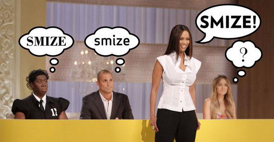 Smize means